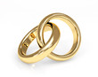 Two 3d gold wedding ring
