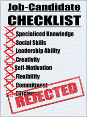 Job-Candidate-Checklist-Rejected