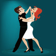 dancing tango characters