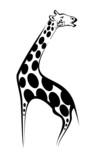 Wild giraffe as a mascot poster