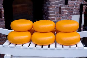 Dutch cheese on a white car