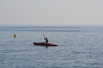 piraguista de mar