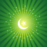 Sparkling Background with Ramadan Moon poster