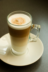 cafe latte glass mug