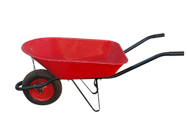 Red Wheelbarrow with clipping path