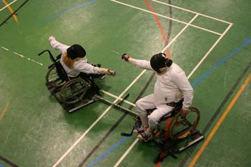 Wheelchair fencing