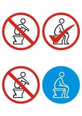Bitte im Sitzen pinkeln