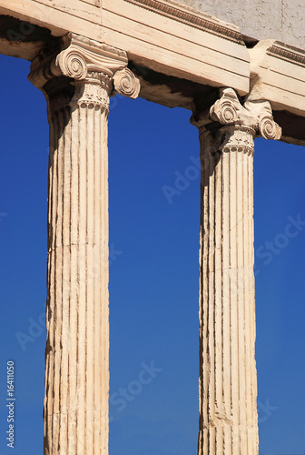 Two ancient column in Greece