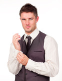 Young Businessman Dressing