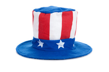 Uncle Sam Hat on White