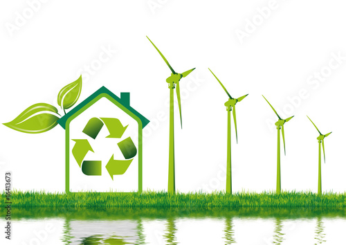 Maison individuelle et nergie renouvelable photo libre de droits - Maison a energie renouvelable ...