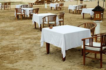 Restaurant am Strand auf Bali