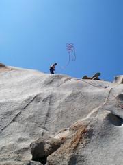 Klettern Capo Testa Sardinien