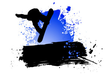 Snowboard abstract background