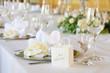 Leinwanddruck Bild - Hochzeitstafel