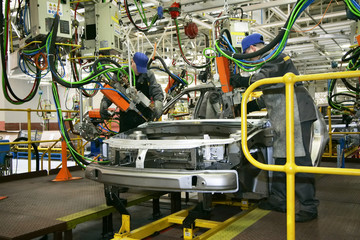 manufacturing of cars