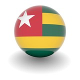 High resolution ball with flag of Togo