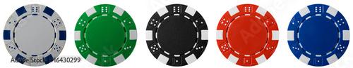Leinwanddruck Bild Poker Chips