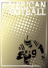 american football golden poster background 3