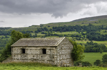 Stone barn in countryside