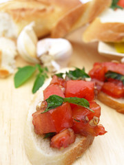 Bruschetta piece in front