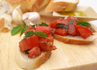 Bruschetta in front
