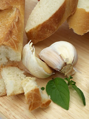 Bread with garlic