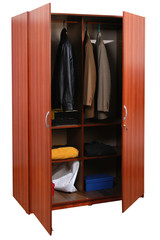 Closet. Clipping path