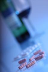 Alcohol and Pills (dark blue light)