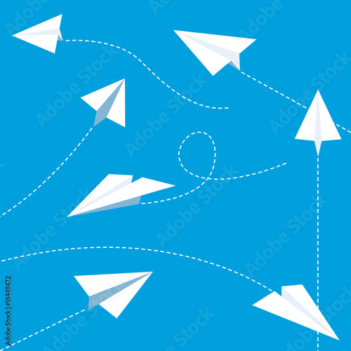Paper planes set - white - 16448472