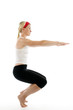 yoga awkward pose illustration fitness trainer teacher