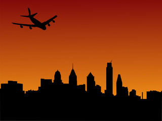 plane arriving in Philadelphia