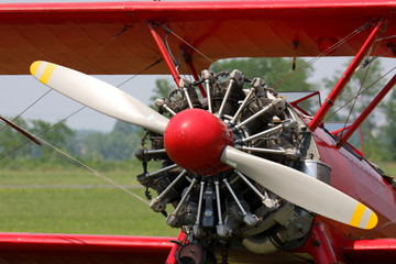 Boeing Stearman engine detail