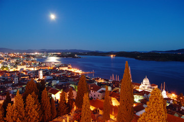 sibenik at night