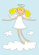Leinwanddruck Bild - cute girl angel