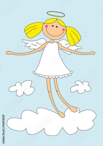 Leinwanddruck Bild cute girl angel