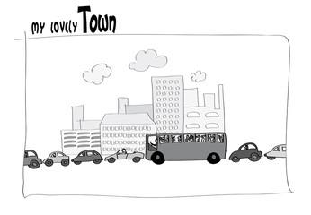 Embouteillage en ville