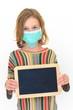 Ecolière grippée