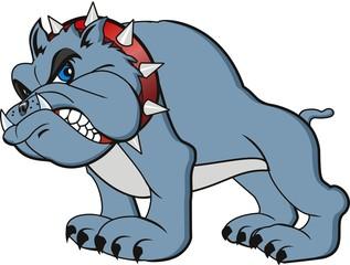 vector bulldog cartoon. Very angry