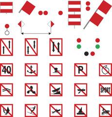 Waterway Signs, Prohibitory