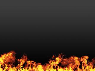 fuoco su sfondo scuro