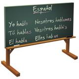 Fototapety Tableau noir et cours d'espagnol (détouré)