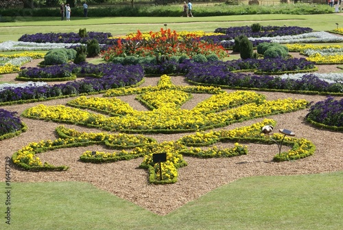 poster of creative formal flower bed