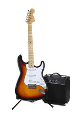 An electric Guitar and Amp
