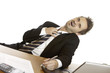 Stress am Arbeitsplatz - Businessman has stress at job