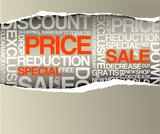 Sale discount advertisement poster