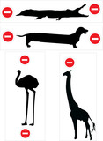 length and height limitation signs poster