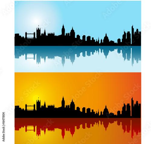london skyline vector. Black vector London silhouette