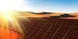 Solarkraftwerk in der Sandwüste