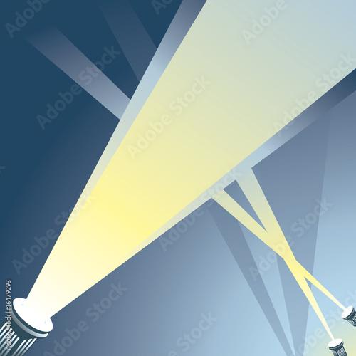 Deurstickers Licht, schaduw Spotlight - Grey